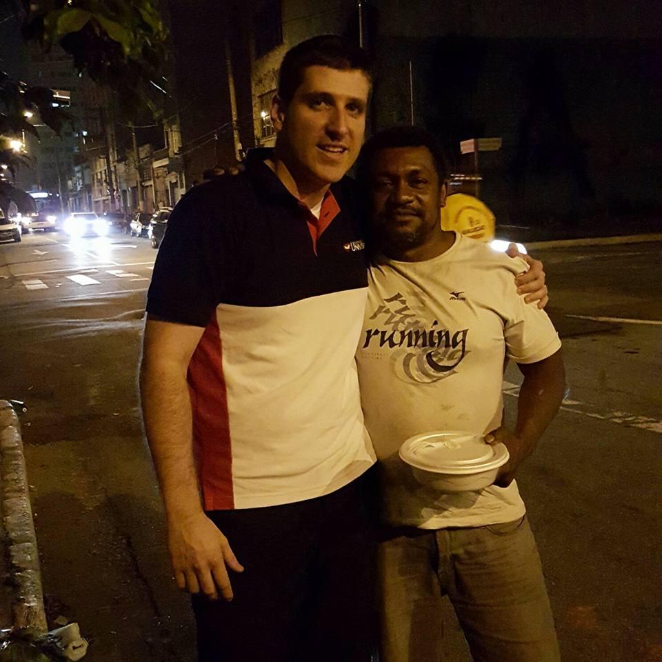 Felipe Castro, empresário e voluntário do Anjos da Noite