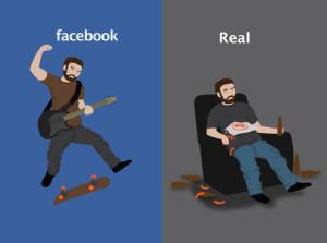 Vida cor de rosa só no Facebook…