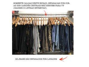 Desafio arrumação 1 – Organização do guarda-roupa