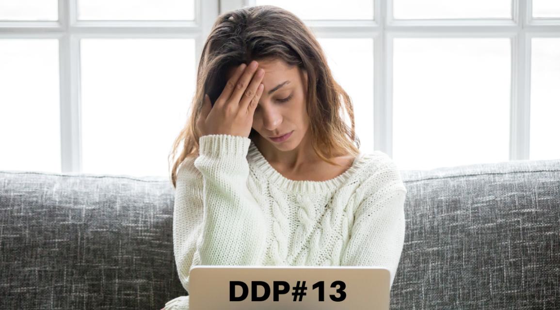 Preocupação afasta a solução – DDP 13